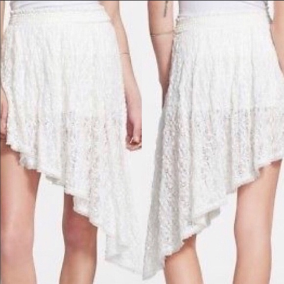 Free People Dresses & Skirts - Free People Tea Party Smocked Asymmetrical Skirt